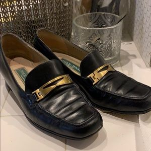 Classic Cole Haan loafers with brass detail